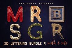 3D Lettering MegaBundle 4 by MIIM on @creativemarket