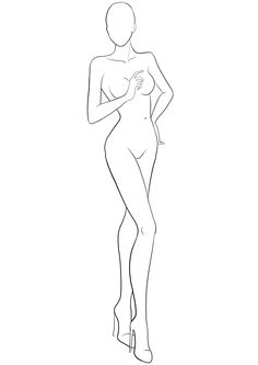 Free figure template for fashion sketches. Download free fashion templates to draw designs of clothing, accessories and shoes