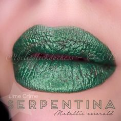Lime Crime Serpentina Velvetine Lime Crime Salem, Green Lipstick, Beauty Makeup, Makeup, Gorgeous Makeup