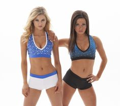 Tryout wear for NBA and NFL professional cheerleaders and dance teams. Tops, shorts, and more! Customize your top with any color or print you want