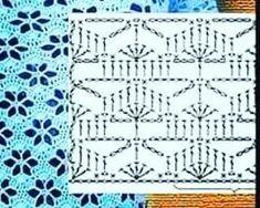 Vintage Crochet Patterns, Crochet Stitches Patterns, Crochet Chart, Crochet Motif, Knitting Stitches, Cross Stitch Patterns, Knitting Patterns, Crochet Tree, Crochet Dragon