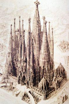 Antoni Gaudí - La Sagrada Familia, Barcelona, España.
