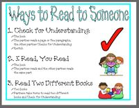Read to Self, to Someone & Listen to Reading