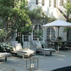 Beautiful terrace and love the doors in the background