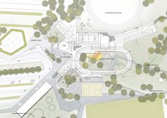 Image 1 of 13 from gallery of Elkiær+ Ebbeskov and Leth & Gori Win Competition for Multifunctional Sports Centre. Image Courtesy of Elkiær+ Ebbeskov / LETH & GORI Plan Image, Courtyard Landscaping, Win Competitions, Architecture Graphics, Multifunctional, Landscape Design, Centre, Gallery, Sports
