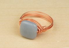 square bead wire wrap ring