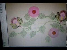 Bordado flor desfiadinha- Primeira parte - YouTube