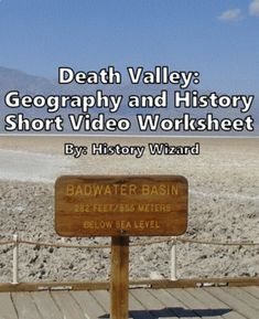 Death Valley Short Video Worksheet by History Wizard | TpT