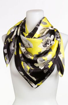 Juicy Couture 'Roses' Silk Scarf available at #Nordstrom