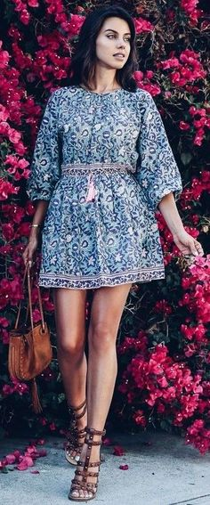 #summer #trending #fashion |Fun Floral Little Dress