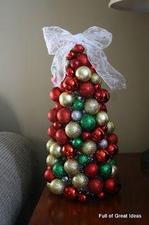 DIY Dollar Store Christmas Ornament Tree