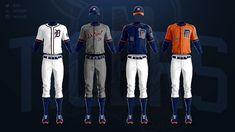 MLB Jerseys Redesigned on Behance Mlb Uniforms, Baseball Uniforms, Mlb Teams, Motorcycle Jacket, Behance, Concept, Sports, Beige