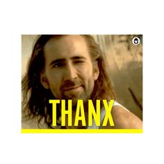 Me giving a sexy wink of gratitude. New #GIF in #Thanx Pack. Send to #squad on #chat. Download #app in profile. #sunday #weekend #friendsgiving #nicolascage #film #movie #imessage #line #kik #viber #tech #startup #meme #lol #comedy #funny #emoji #digitalsticker #mojilab
