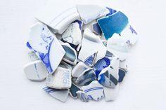Bulk 50 Pieces of Japanese Blue Pottery,Beach Pottery,Coastal Home Decor,Antique,Nursery Craft Ceramic Supply, Blue Mosaic Pieces by ReverseGem on Etsy