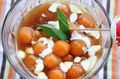 Kolak Candil Ubi Merah Lezat (Sweet Potato Dessert with palm sugar and coconut milk)