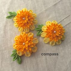 Japanese Kimono, Ribbon, Hair Accessories, Tableware, Design, Hair Clips, Hand Embroidery, Bias Tape, Flowers