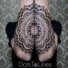 Mandala forearm tattoo - A grand looking mandala forearm tattoo. The impact that the tattoo gives to onlookers is amazing and you can't help but stare deeper into the details and into the circle.