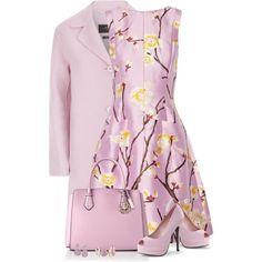 Lilac Dress by daiscat on Polyvore featuring Oscar de la Renta, Weekend Max Mara, TARA Pearls and Effy Jewelry