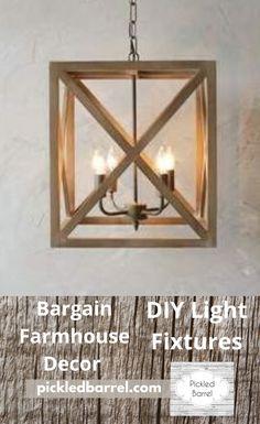 You are going to absolutely love the chick pendant light! But don't worry; there are plenty of DIY farmhouse decor ideas to keep you busy until the cows come home. If your budget is small, but you want the most impact, you've come to the right place. Get your boots and straw hat and let's get working! #pickledbarrelblog #diyfarmhousedecor #farmhouse Farmhouse Lighting, Farmhouse Kitchen Decor, Home Decor Kitchen, Diy Home Decor Projects, Fall Home Decor, Decor Ideas, Diy Light Fixtures, Cows, Don't Worry