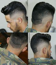trendy hairstyles men fade hard part Undercut Hairstyles, Boy Hairstyles, Trendy Hairstyles, Undercut Pompadour, Popular Haircuts, Haircuts For Men, Faux Hawk Men, Medium Hair Styles, Short Hair Styles