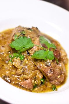 Mexican Chile Verde recipe. Learn how to make this delicious green chile verde with roasted tomatillos and pork.