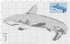 Shark Cross Stitch {Alita Designs}  #crossstich