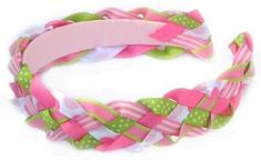 How To Make Braided/Woven Headband Instructions - Hip Girl Boutique Free Hair Bow Instructions--Learn how to make hairbows and hair clips, FREE! Headband Tutorial, Bow Tutorial, Diy Headband, Newborn Headbands, How To Make Braids, Diy Braids, Ribbon Headbands, Ribbon Bows, Braided Headbands