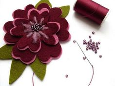 Beaded Felt Flower Headband