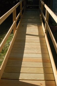National Ramp » Wooden Ramp Installation