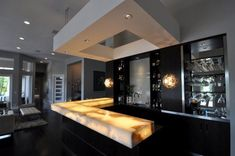 Onyx marble bar counter designed by SONIVIPULDESIGNS... | SONI VIPUL ...