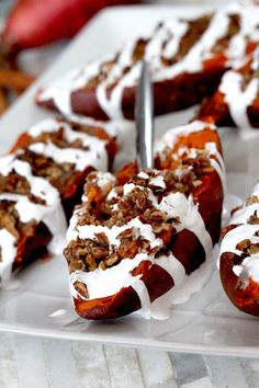 Twice Baked Sweet Potatoes with Bacon Pecan Streusel and Marshmallow Drizzle. Now that's a mouthful. A sweet, creamy brown sugar, maple, mouthful. Thanksgiving can't come soon enough for these beauties!  With Thanksgiving just a couple weeks away, I've been having fun elevating ordinaryThanksgiving recipes into extraordinary recipes that are so addictingly delicious, you will...Read More »