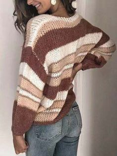 Fall Sweaters For Women, Winter Sweaters, Loose Knit Sweaters, Casual Sweaters, Pullover Mode, Trend Fashion, Women's Fashion, Vogue Knitting, Yellow Sweater