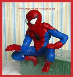 Spiderman ready to jump off my next cake!!!