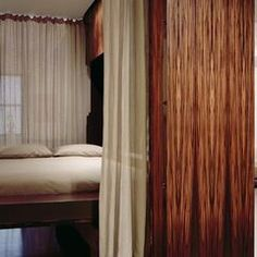 small space modern guest bedroom murphy bed by Roger Hirsch Architect Modern Apartment Decor, Urban Apartment, Apartment Design, Apartment Therapy, Tiny Spaces, Small Rooms, Small Apartments, Horizontal Murphy Bed, Small Room Design