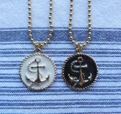 beachcomber nautical anchor necklace by beachcomberhome on Etsy, $12.00