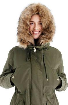 135b51e1668 J.Crew Perfect Winter Parka with Faux Fur Trim (Regular
