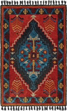 Oriental Weavers Madison 61403 Rust Blue Area Rug – Incredible Rugs and Decor Southwestern Style, Large Rugs, Jewel Tones, Blue Area Rugs, Colorful Rugs, Rust, Bohemian Rug, Oriental, The Incredibles