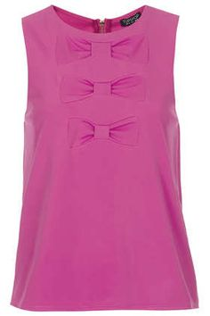 Triple Bow Shell Top - Tops  - Clothing