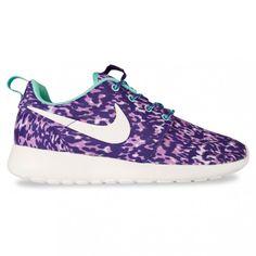 half off cefed 8cd54 Purple Nike Sportswear Womens   Nike Sportswear ROSHE RUN WOMENS PRINT  Purple Nikes, Gym Gear