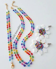 Seed Bead Necklace, Seed Bead Bracelets, Beaded Necklace, Bead Earrings, Bead Embroidery Patterns, Beaded Embroidery, Beard Jewelry, Handmade Rakhi, Grunge Jewelry
