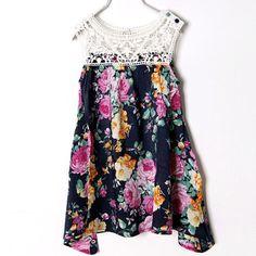 ccef185a788 Girl Dress Summer Toddler Kids Print Lace Sleeveless Princess Party Tutu  Dresses
