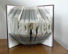 Wedding favor - Wedding gift - Folded Book Art - Bridal shower favor - Gift for wedding couple - Wedding decoration - Gift for book lovers