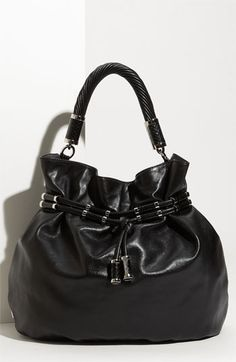 11e20b7eb4fc Michael Kors  Tonne  Leather Drawstring Hobo  995 Michael Kors Hobo