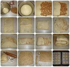 oškvarkové pagáče fotopostup Desert Recipes, Biscuits, Deserts, Food And Drink, Bread, Cooking, Russian Recipes, Polish, Basket