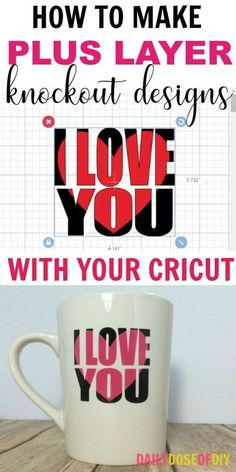 In this tutorial, I'm going to show you how to make knockout designs in Cricut design space. I didn't write about knockout designs on my recent post about how to edit text in design space and I've had…More Cricut Air 2, Cricut Help, Tips And Tricks, Mason Jar Crafts, Mason Jar Diy, Shilouette Cameo, Cricut Craft Room, Circuit Projects, Art Projects