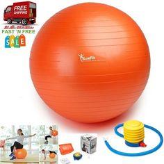 Ball Exercise Yoka Sport Gym Free Foot Pump Anti Burst Slip Resistant 55Cm-85 Cm #LuxFit