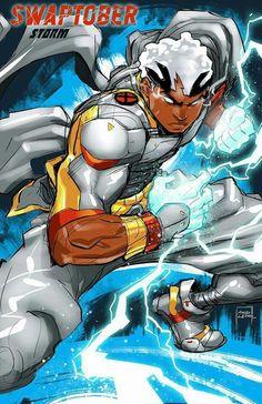 Black Cartoon Characters, Superhero Characters, Comic Book Characters, Comic Books Art, Comic Art, Aliens, Character Art, Character Design, Character Inspiration