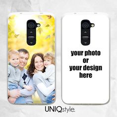 Personalized photo phone case for LG g2 LG g2 mini LG by Uniqstyle