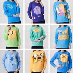 Womens-Adventure-Time-T-shirt-Sweater-Sweatshirt-Hoodie-Pullover-Tops-Tracksuit