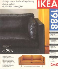 IKEA 1988 Catalogue Ikea, Catalog Cover, Decoration, Furniture, Hui, 1980s, Home Decor, Book, Inspiration